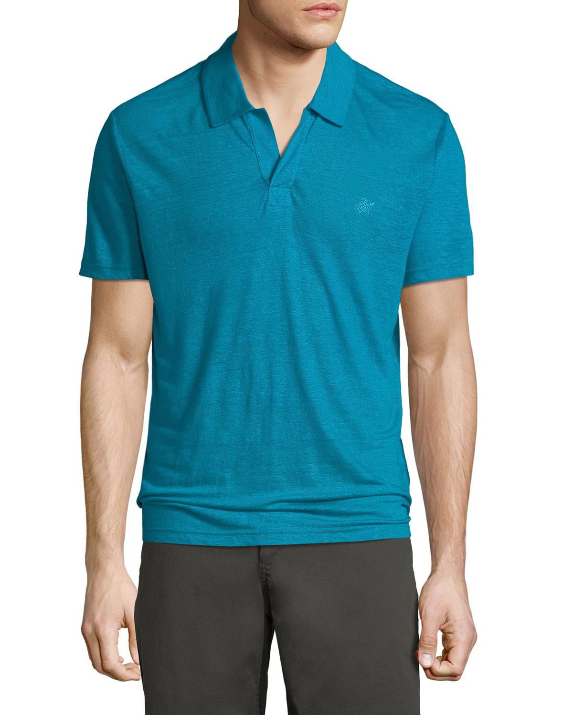 803a585ca9 Vilebrequin Men's Pyramid Linen Polo Shirt In White | ModeSens