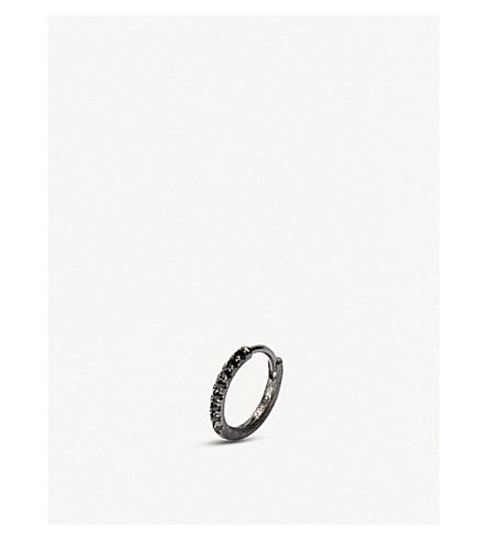 Annoushka Dusty Diamonds 18Ct Black Rhodium-Plated White-Gold And Diamond Single Earring In White Gold