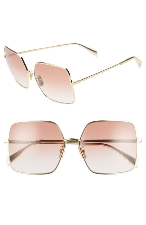 Celine Women's Square Gradient Sunglasses In Endura Gold/ Gradient Bordeaux