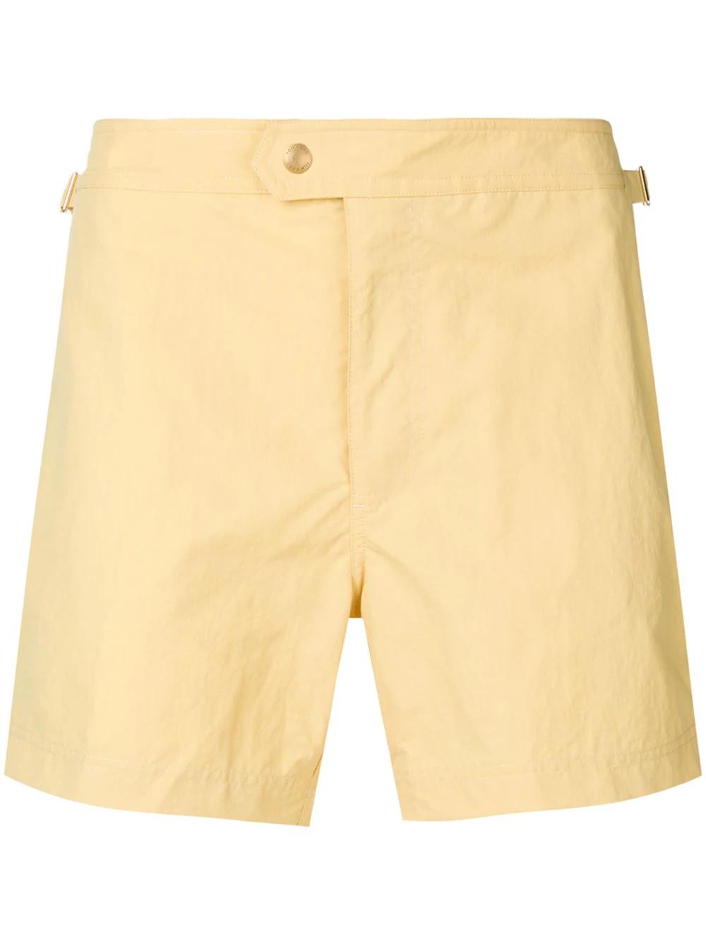697a508e66 Tom Ford Classic Swim Shorts - Yellow | ModeSens