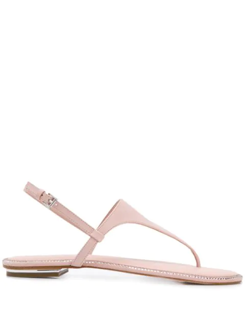 Michael Michael Kors Studded Thong Sandals In Pink