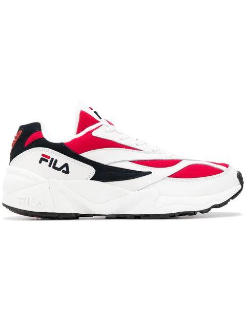 Fila Men's Colorblock Mixed-media Trainer Sneaker In White