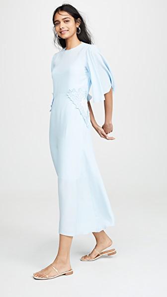 Lace Detail Dress In Breezy Blue