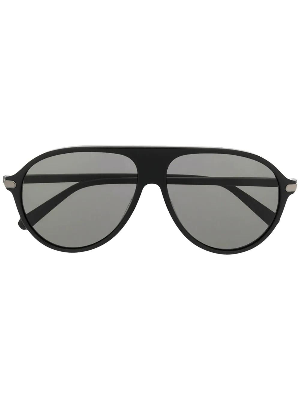 34a660462022 Brioni Aviator Sunglasses - Black   ModeSens