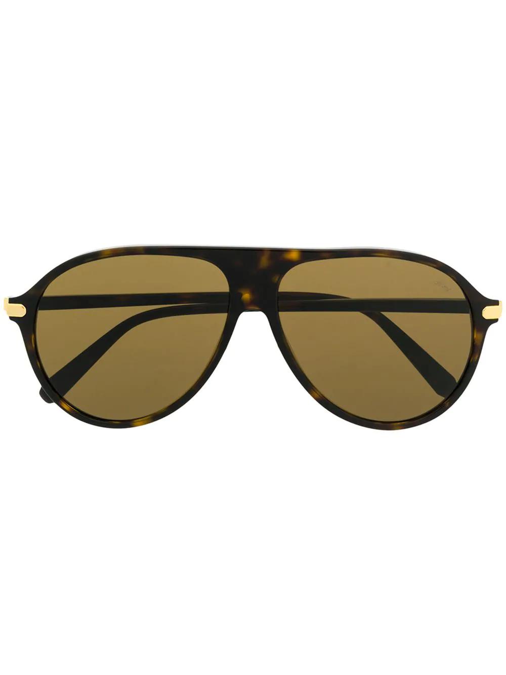61f669fe6322 Brioni Tortoiseshell Aviator Sunglasses - Brown   ModeSens