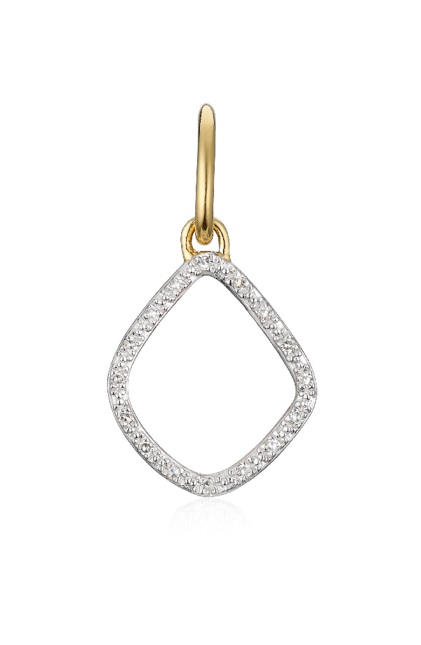 1804040baf588d Monica Vinader Riva Diamond Kite Pendant Charm In Gold/ Diamond ...
