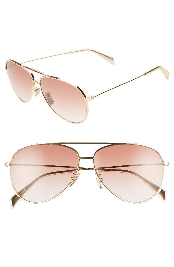 887256b44 Celine 59Mm Aviator Sunglasses - Endura Gold/ Gradiend Bordeaux ...