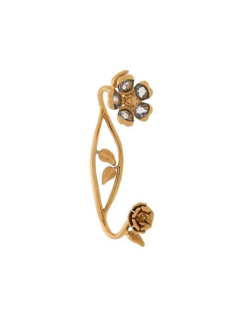 Versace V-floral Garden Hand Cuff In Gold