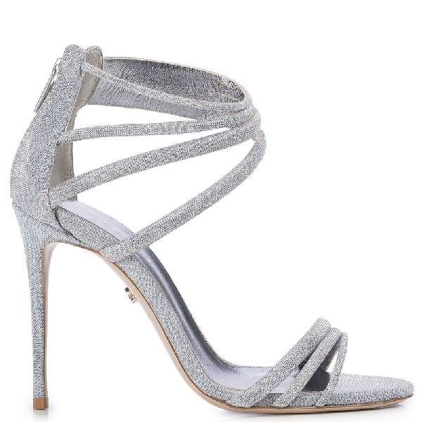 Le Silla Denise Sandal 110 Mm In Silver