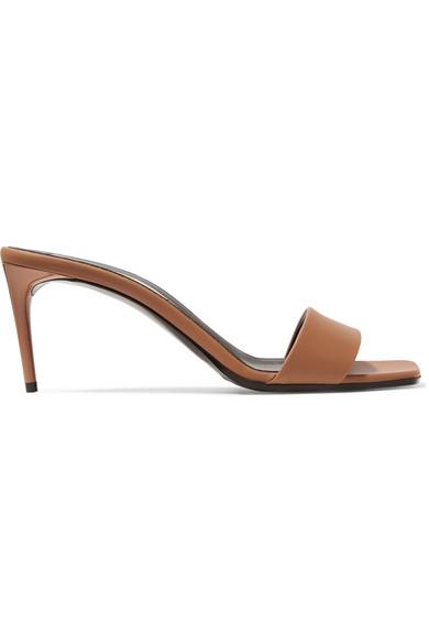 Stella Mccartney Net Sustain Faux Leather Mules In Tan