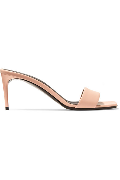 Stella Mccartney Net Sustain Faux Leather Mules In Antique Rose