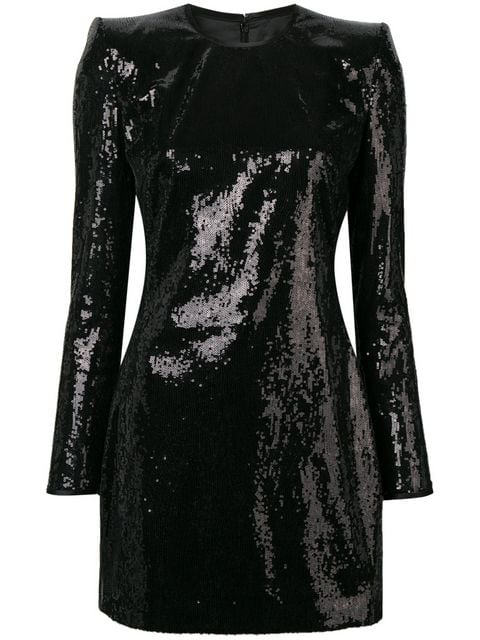 Dsquared2 Long Sleeve Sequined Dress In Black