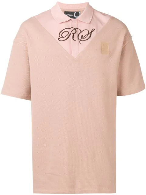 Fred Perry T-shirt Mit Logo-stickerei In Pink
