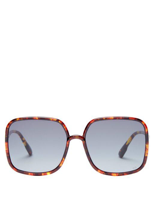 296f1237848ec Dior Sostellaire 1 Square-Frame Acetate Sunglasses In Tortoiseshell ...