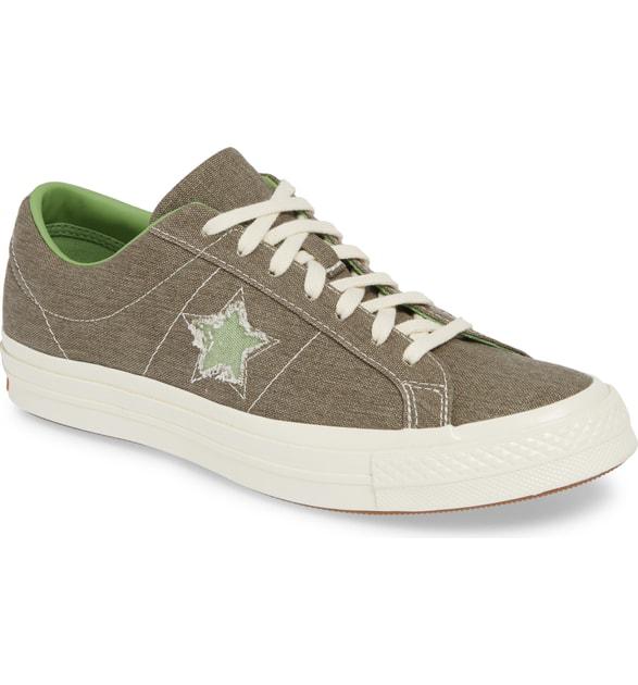 8655b311ee6894 Converse One Star Low Top Sneaker In Field Surplus Green Canvas ...