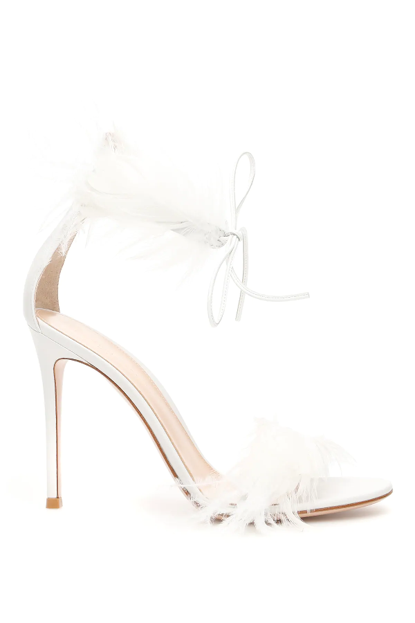 Gianvito Rossi Athena 105 Sandals In White
