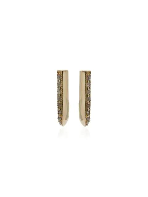 Lizzie Mandler Fine Jewelry Pave Diamonds Knife Edge Earrings In Gold