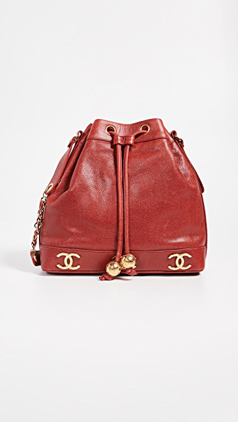 7f21be463080 Chanel Caviar 3 Cc Medium Bucket Bag In Red | ModeSens