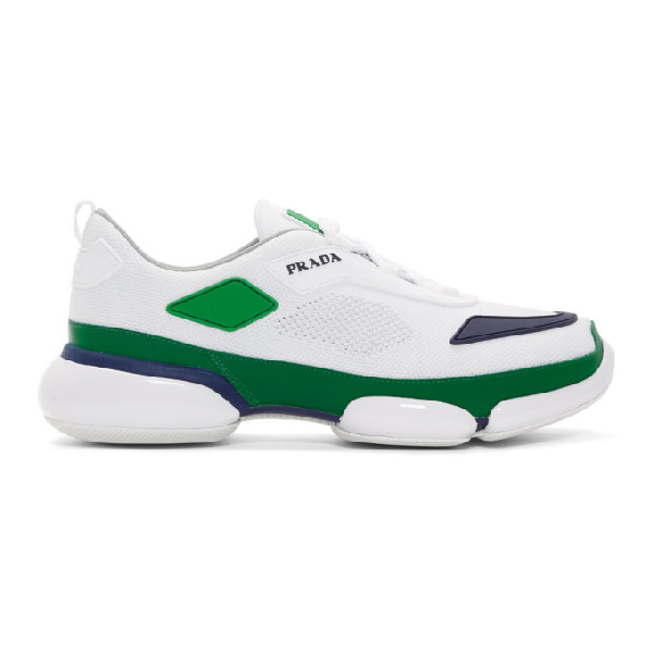 Prada Cloudbust Knitted Low-top Trainers In White