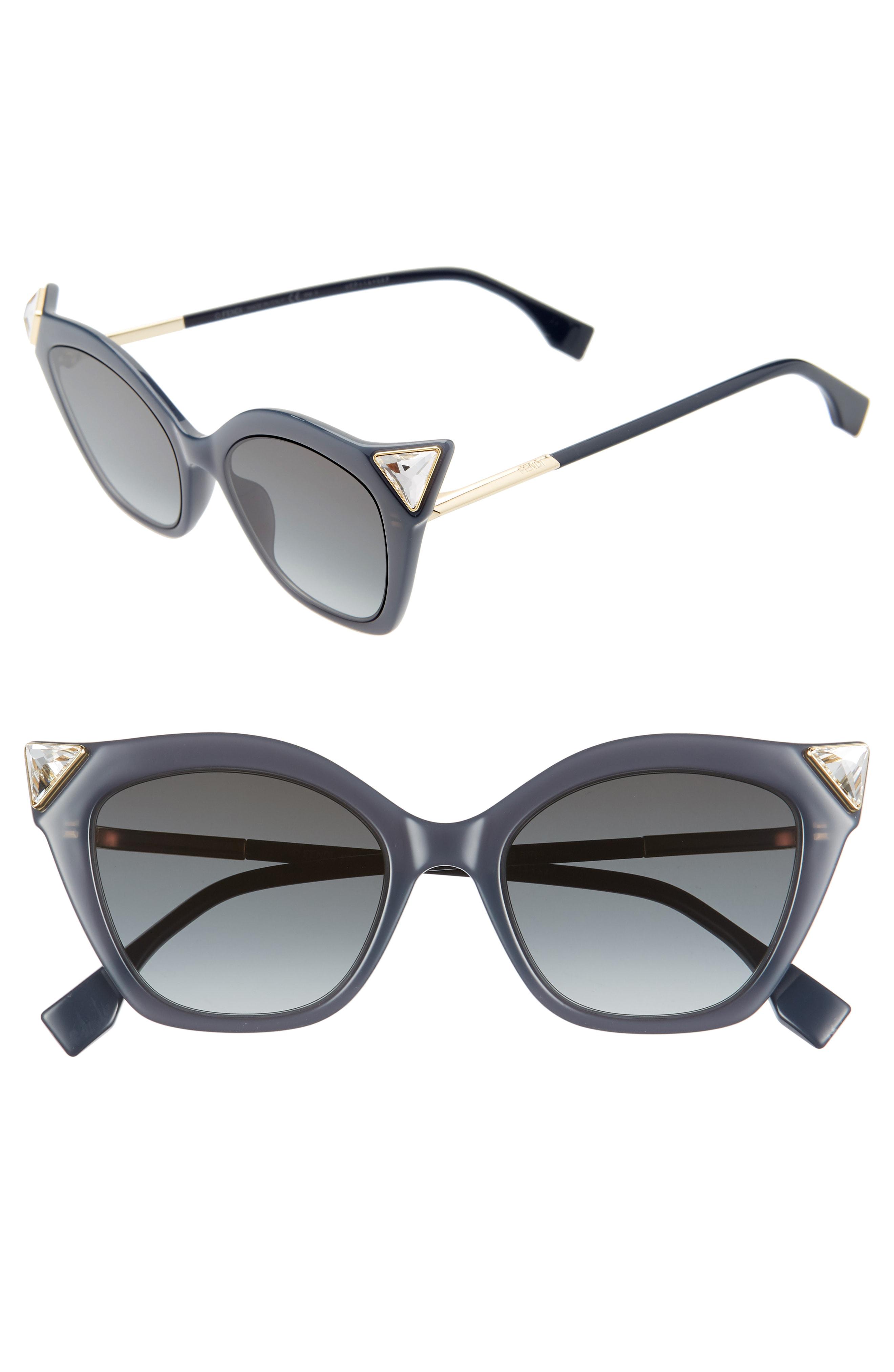 ffac5c0e5b2 Fendi 52Mm Gradient Cat Eye Sunglasses - Black