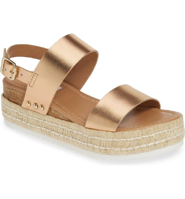 f1d7a90533 Steve Madden Catia Espadrille Sandal In Rose Gold | ModeSens