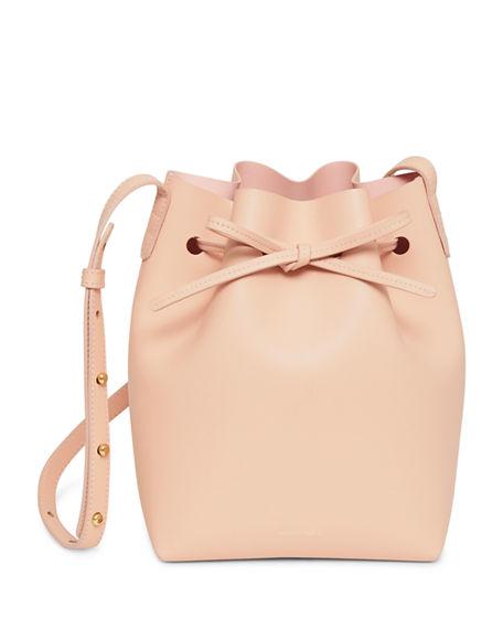 Mansur Gavriel Calf Leather Mini Bucket Bag In Rose
