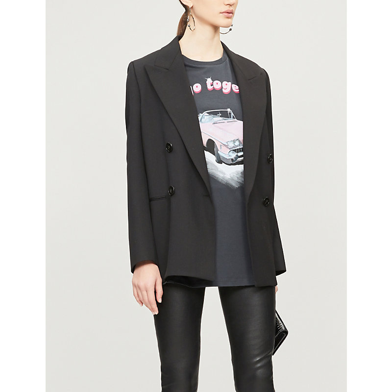 c8570367c4c Pinko Valzer Car-Print Cotton-Jersey T-Shirt In Nero Limousine ...