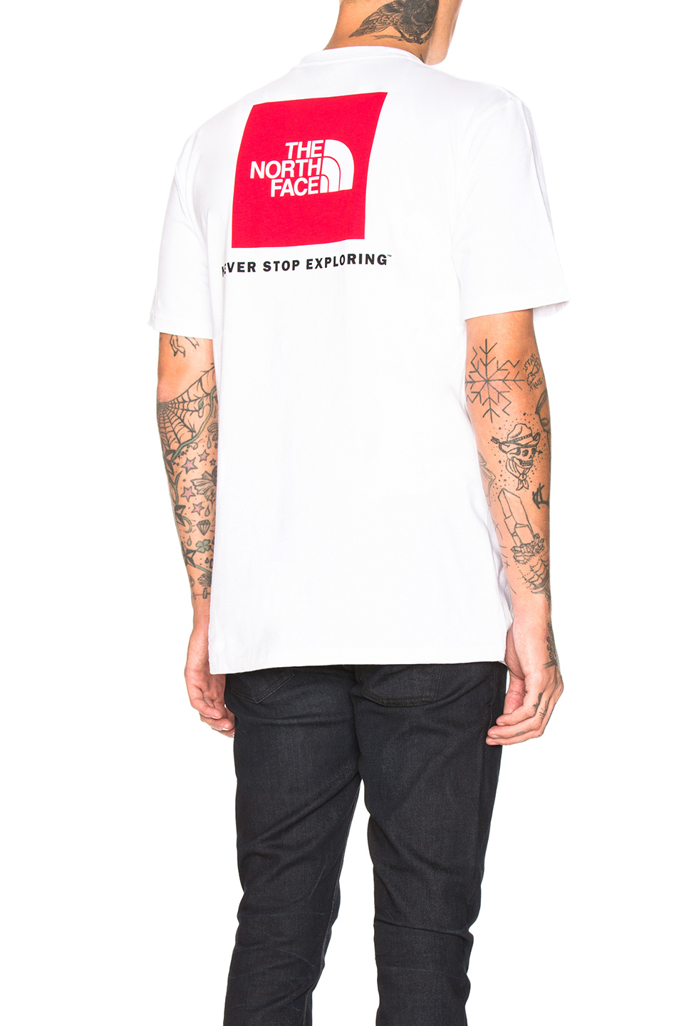 ef1f55946 The North Face S/S Red Box Heavyweight Tee In White. in Tnf White & Tnf Red