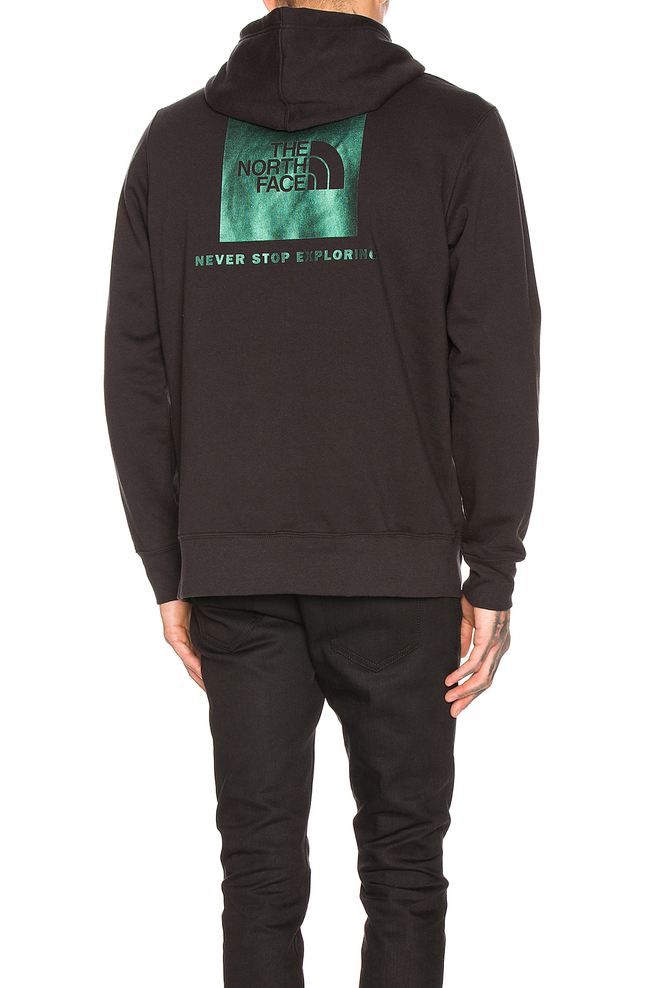 84d2c7a6e The North Face Red Box Pullover Hoodie In Black. in Tnf Black & Iridescent  Multi