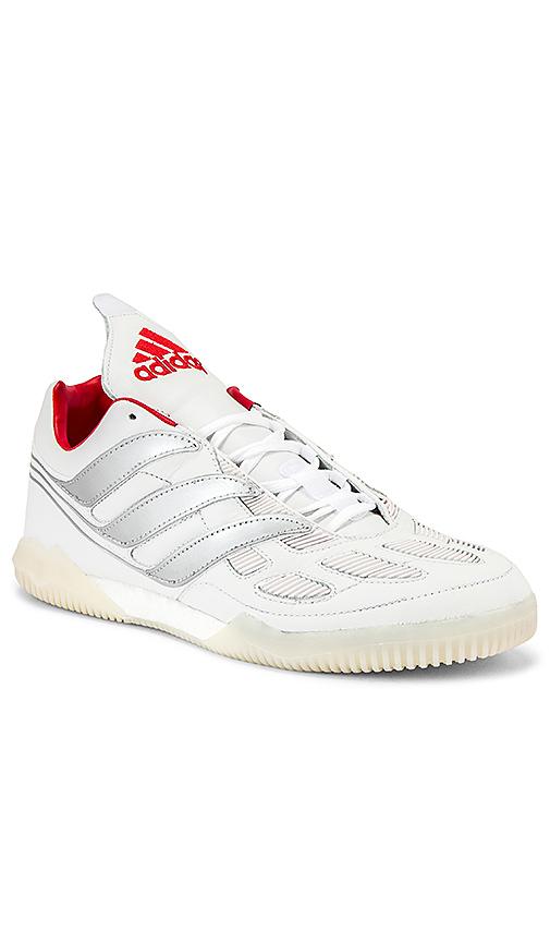 Adidas Football Predator Precision Beckham Sneaker In White & Silver & Red