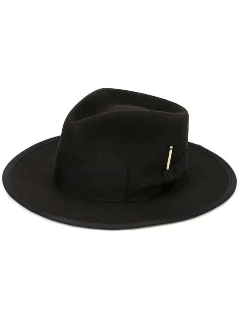 Nick Fouquet Bow Detail Hat In Black