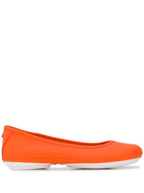 Camper Nina Ballerina Shoes In Orange