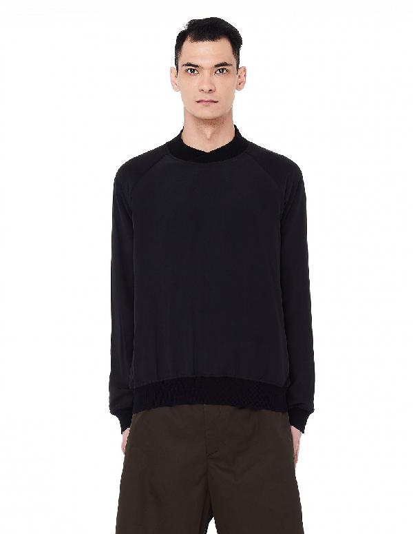 Haider Ackermann High Neck Sweatshirt In Black
