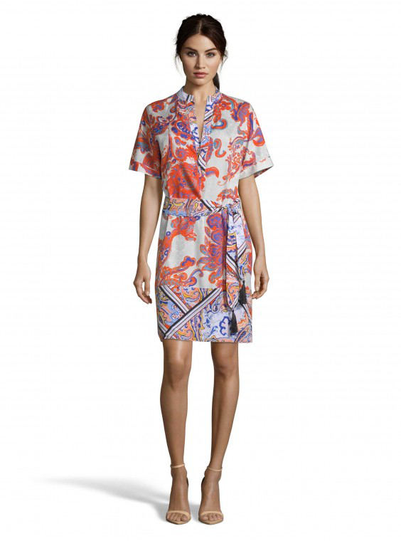 Robert Graham Women's Caitlin Paisley Mixed Floral Dress Size: Xl By  In Multicolor