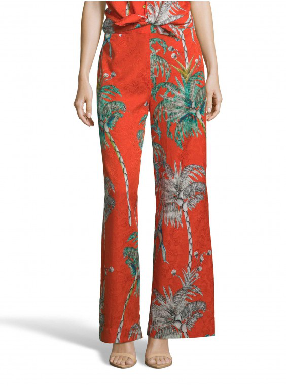 Robert Graham Women's Cora Monkey Botanical Printed Pants Size: 12 By  In Multicolor