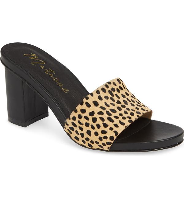 Matisse Nico Genuine Calf Hair Slide Sandal In Leopard Calf Hair