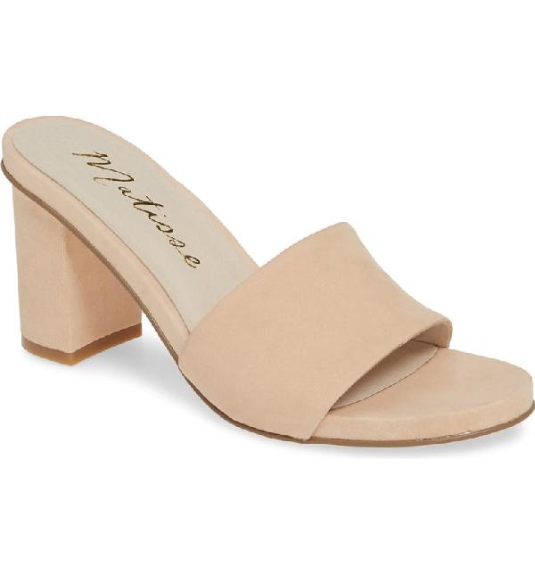 Matisse Nico Slide Sandal In Natural Leather