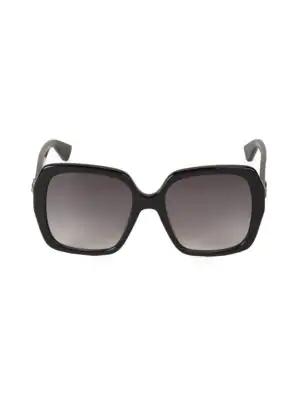 0a362878f7 Gucci 54Mm Oversized Square Sunglasses In Black Grey