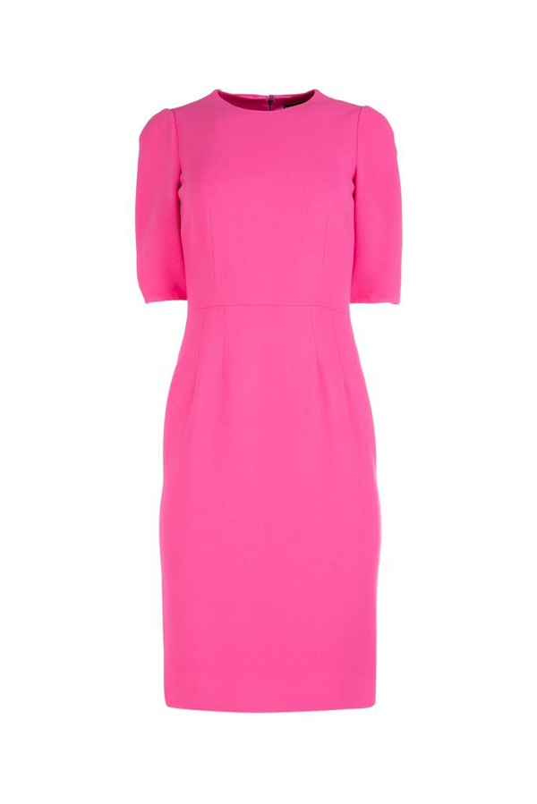 Dolce & Gabbana Fitted Midi Dress In Pink