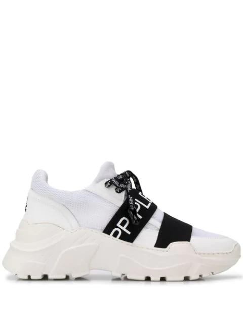 Philipp Plein Chunky Slip-on Sneakers In White