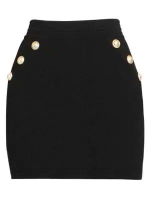 Balmain Knit Diamond Mini Skirt In Black