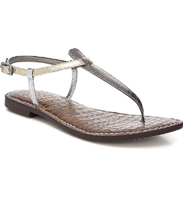 0d8b6152a34b Sam Edelman Women s Gigi Thong Sandals In Pewter  Jute  Silver ...