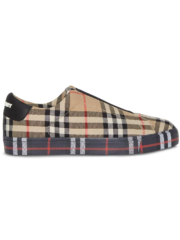048bbbba00104 Burberry Women's Markham Vintage Check Low-Top Sneakers In Neutrals ...