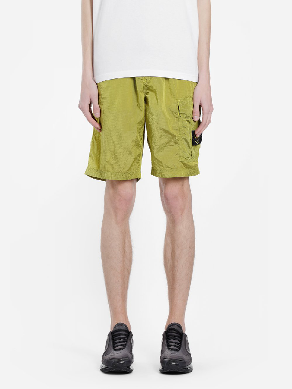 cad0067f75 Stone Island Shorts In Yellow | ModeSens