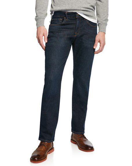 7 For All Mankind Series 7 Clean Pocket Slim Straight Fit Jeans In Diplomat In Medium Blue
