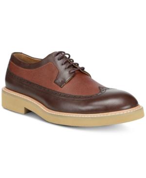 Donald Pliner Men's Gareth Wingtip Lace-Up Shoes Men's Shoes In Expresso