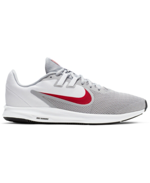 0959eb94ef2e Nike Men s Downshifter 9 Running Sneakers From Finish Line In Wolf  Grey Univ Red-