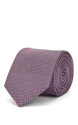 Tie Your Tie Mini-Houndstooth Silk Necktie - Pink