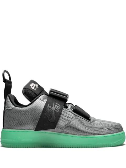 Nike Air Force 1 Utility Qs Obj Sneakers In Grey