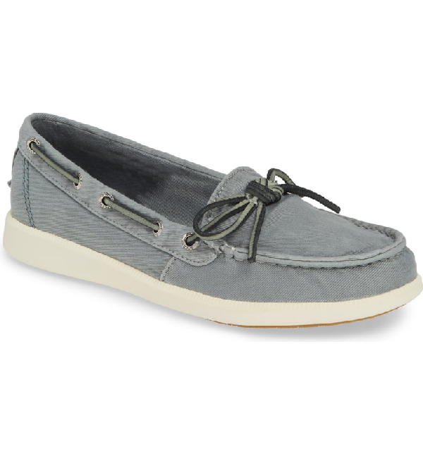 170bc40cd259 Sperry Oasis Canal Washed Twill Boat Shoe In Slate Blue Canvas ...